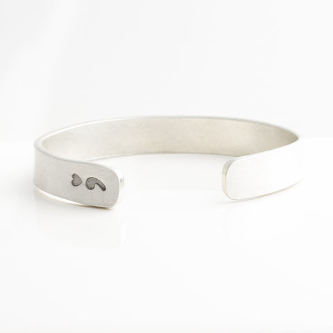 '*'Heart Semi-Colon Pewter Cuff Bracelet - Charity