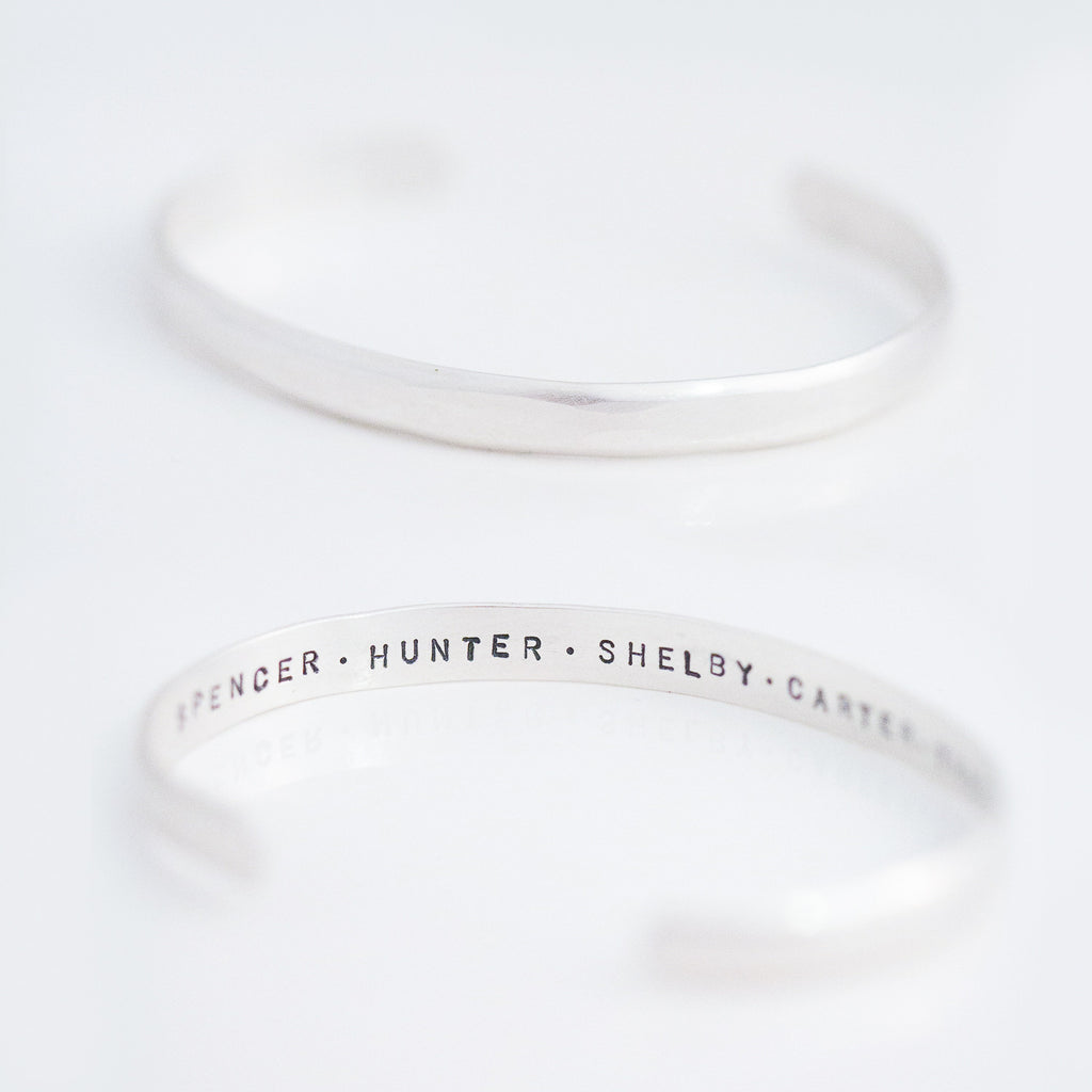Personalized Inside-Out Cuff Bracelet