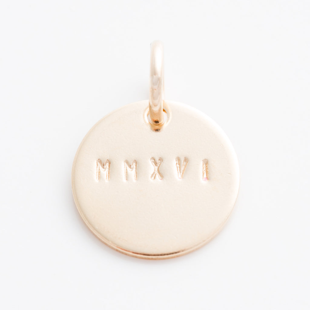 Tiny Numeral Date Charm