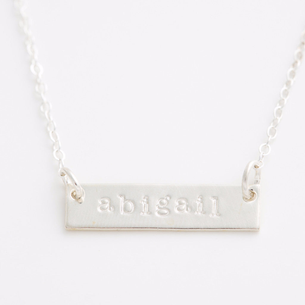 Personalized Skinny Bar Necklace