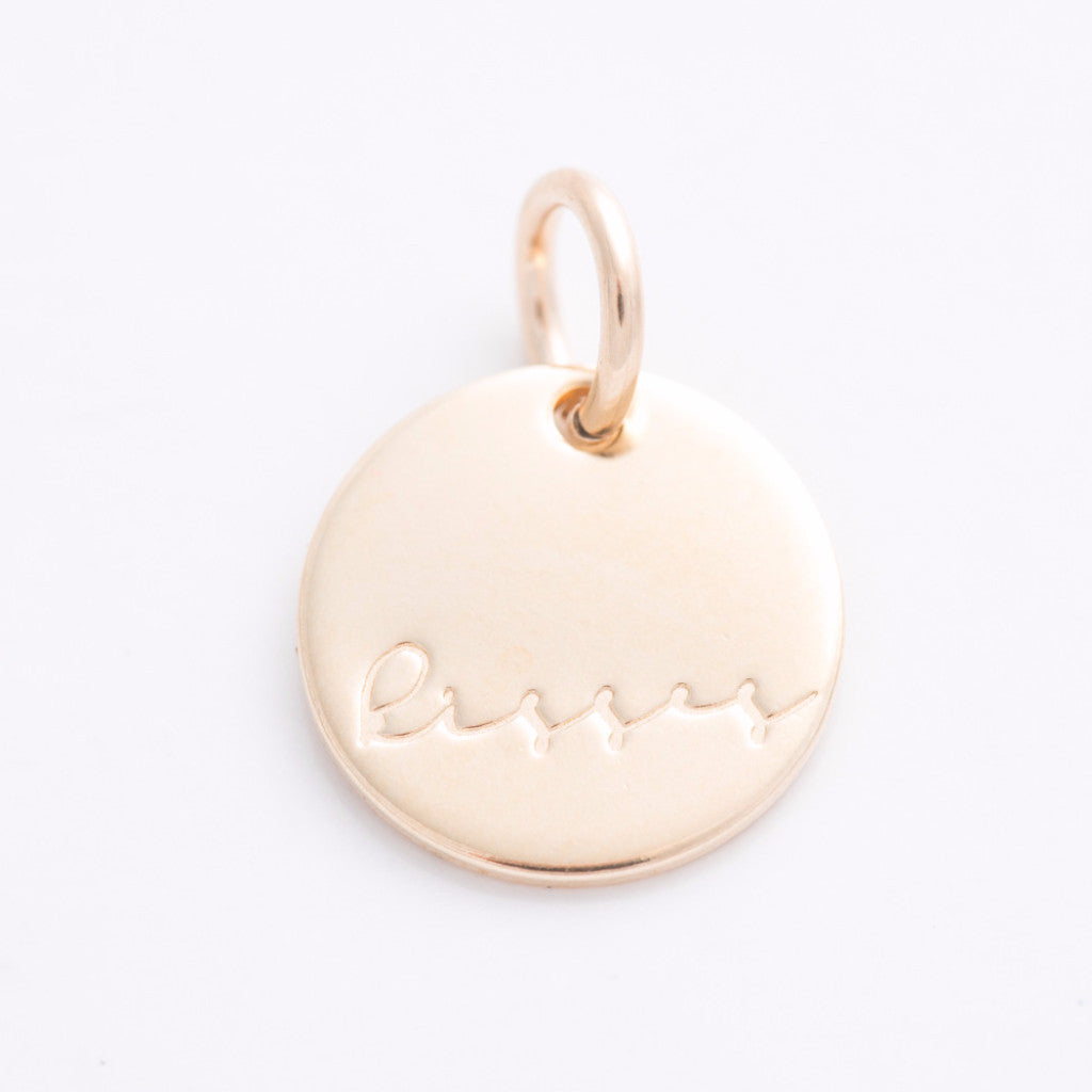 'Kisses' Tiny Charm