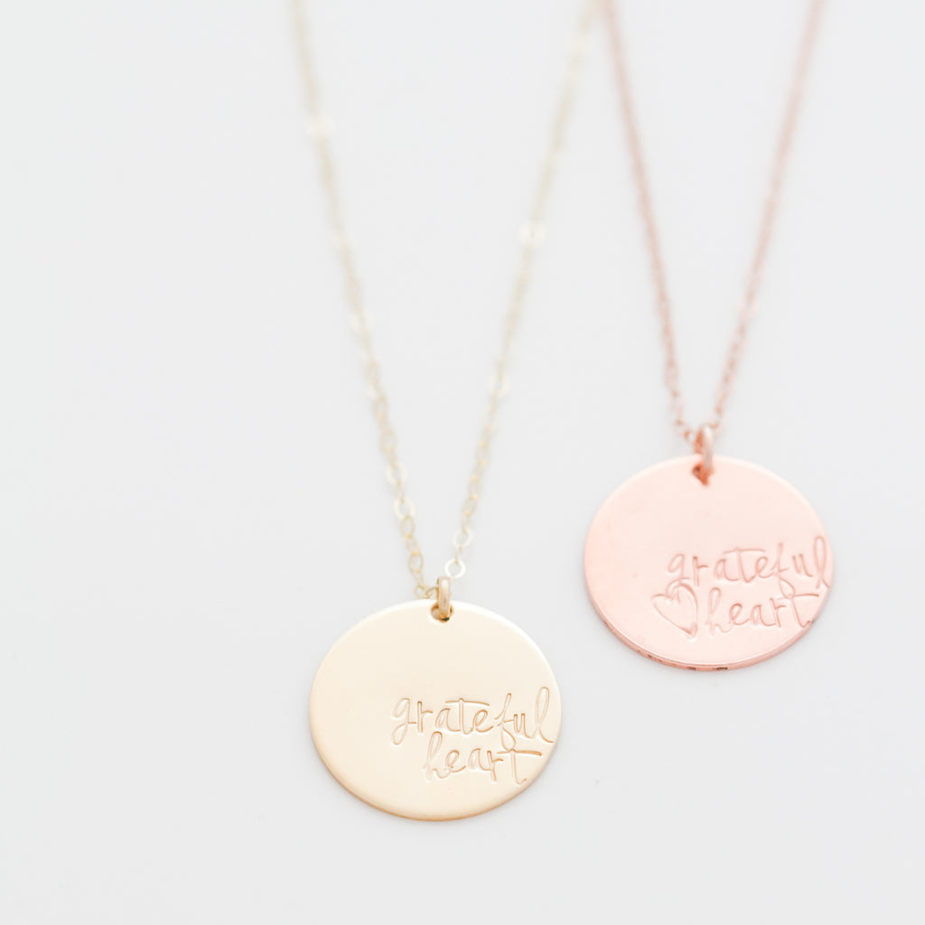 'Grateful Heart' Necklace by Heidi Swapp™ (Limited Edition)