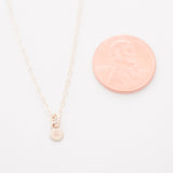 Teeniest Tiniest Initial Charm Necklace