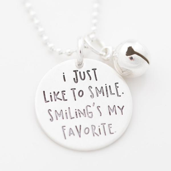 'I Just Like to Smile' Charm NEW