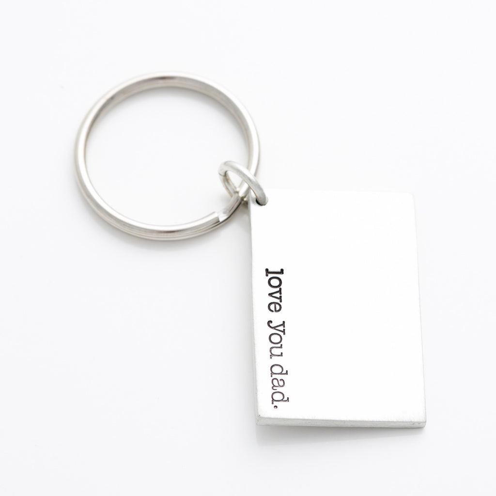 'Love You Dad' Key Chain