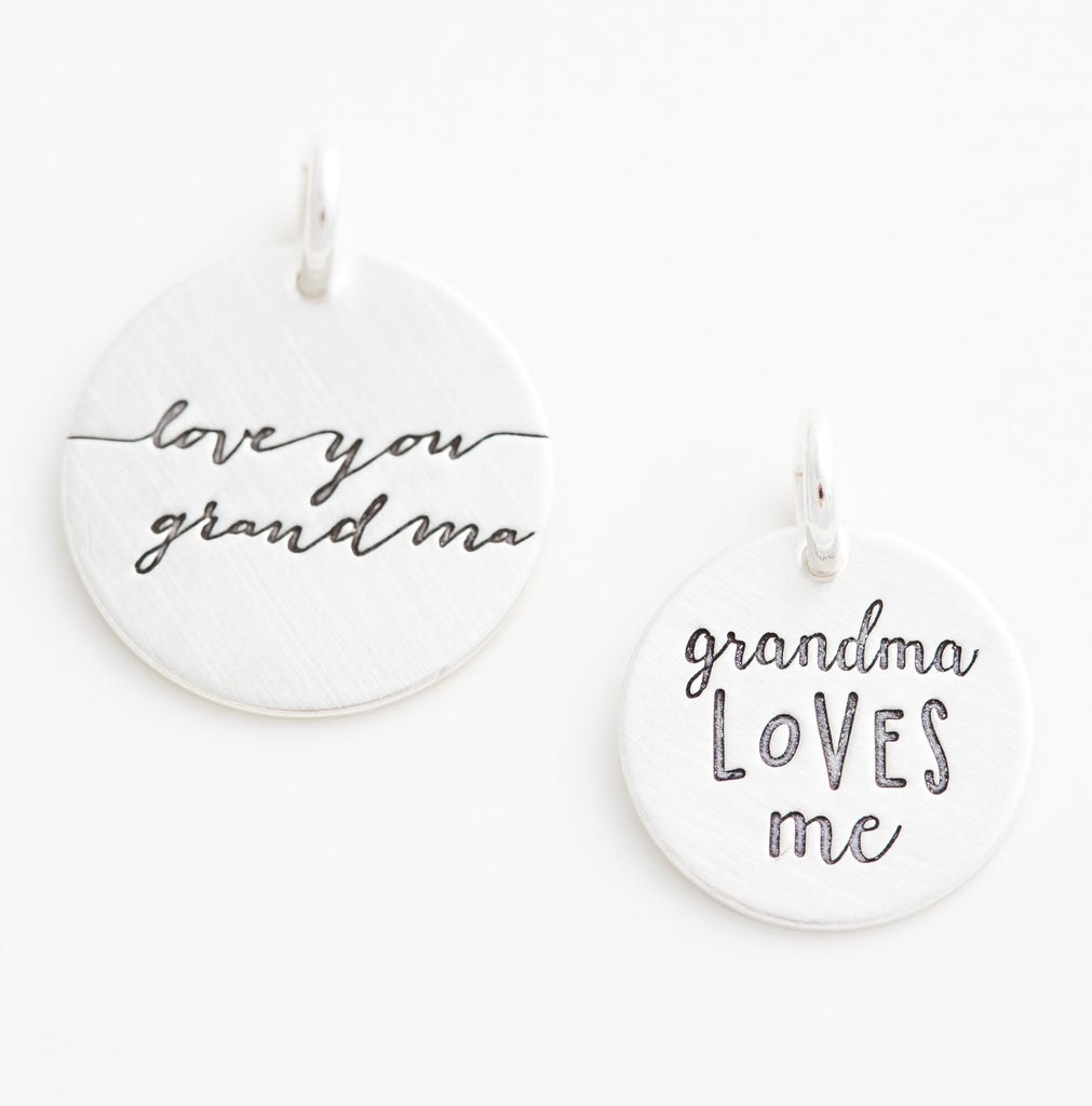 'Love You Grandma' Charm