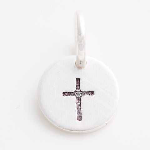 Teeny Tiny Cross Charm