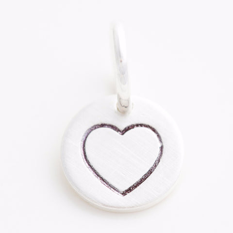Teeny Tiny Open Heart Charm