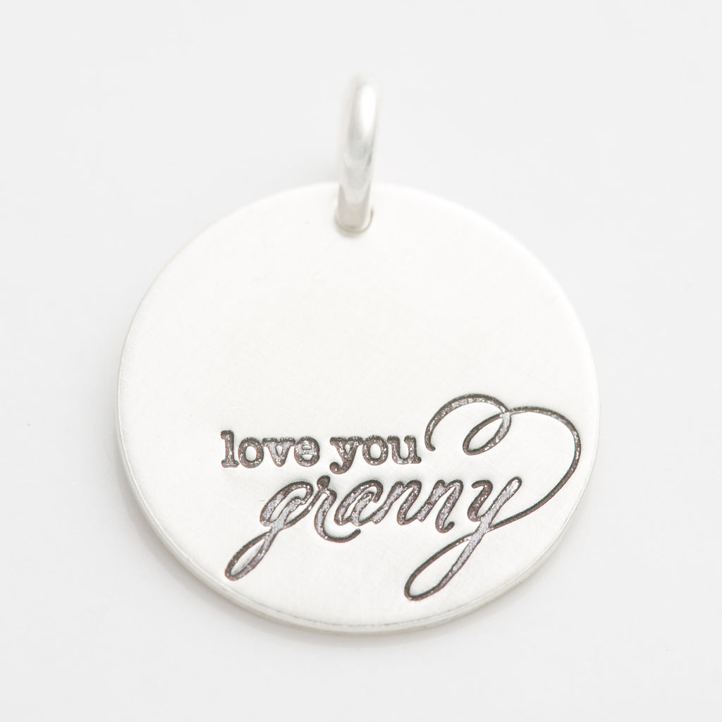 'Love You Granny' Charm