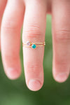 Swarovski Stacking Ring: December/Blue Zircon