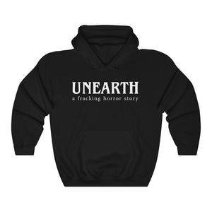 Unearth White Logo Unisex Heavy Blend™ Hooded Sweatshirt