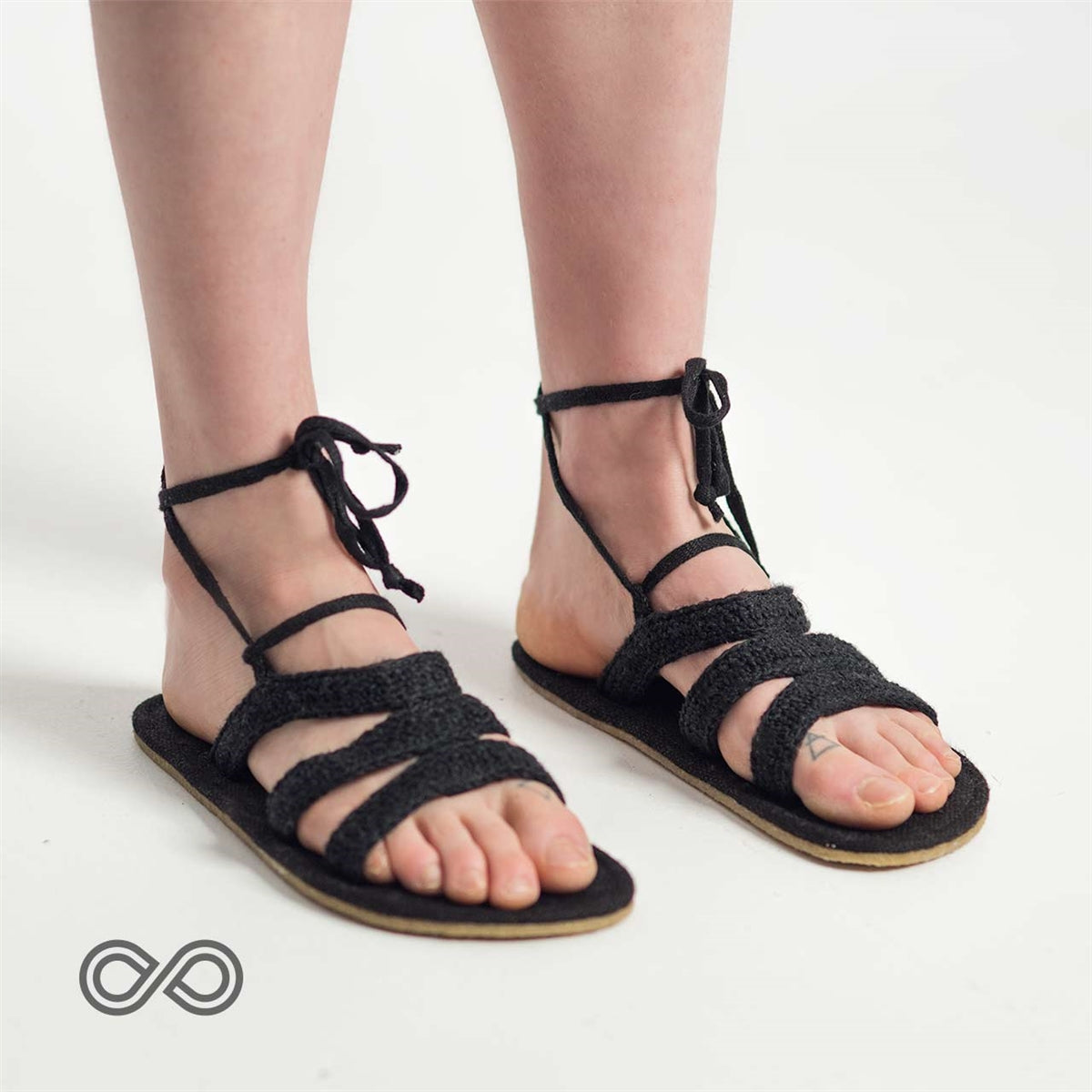 Seawall Lace Up Sandals by Rawganique