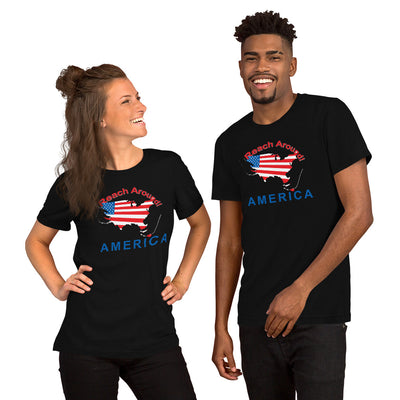Black Short-Sleeve Unisex T-Shirt - Reach Around America