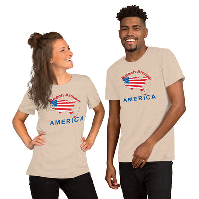 Heather Dust Short-Sleeve Unisex T-Shirt - Reach Around America