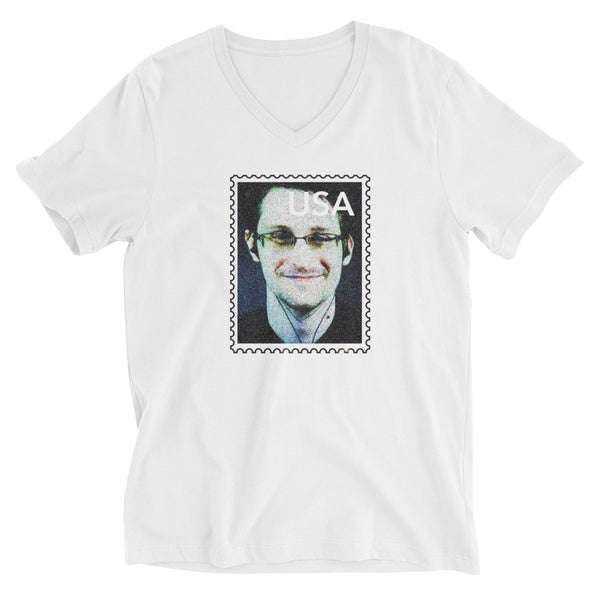 Edward Snowden (in a parallel universe) V-neck