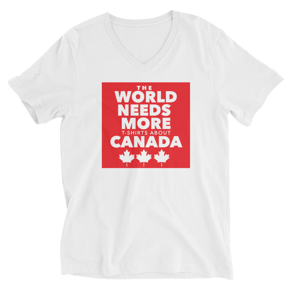 The world needs more (t-shirts about) Canada V-neck