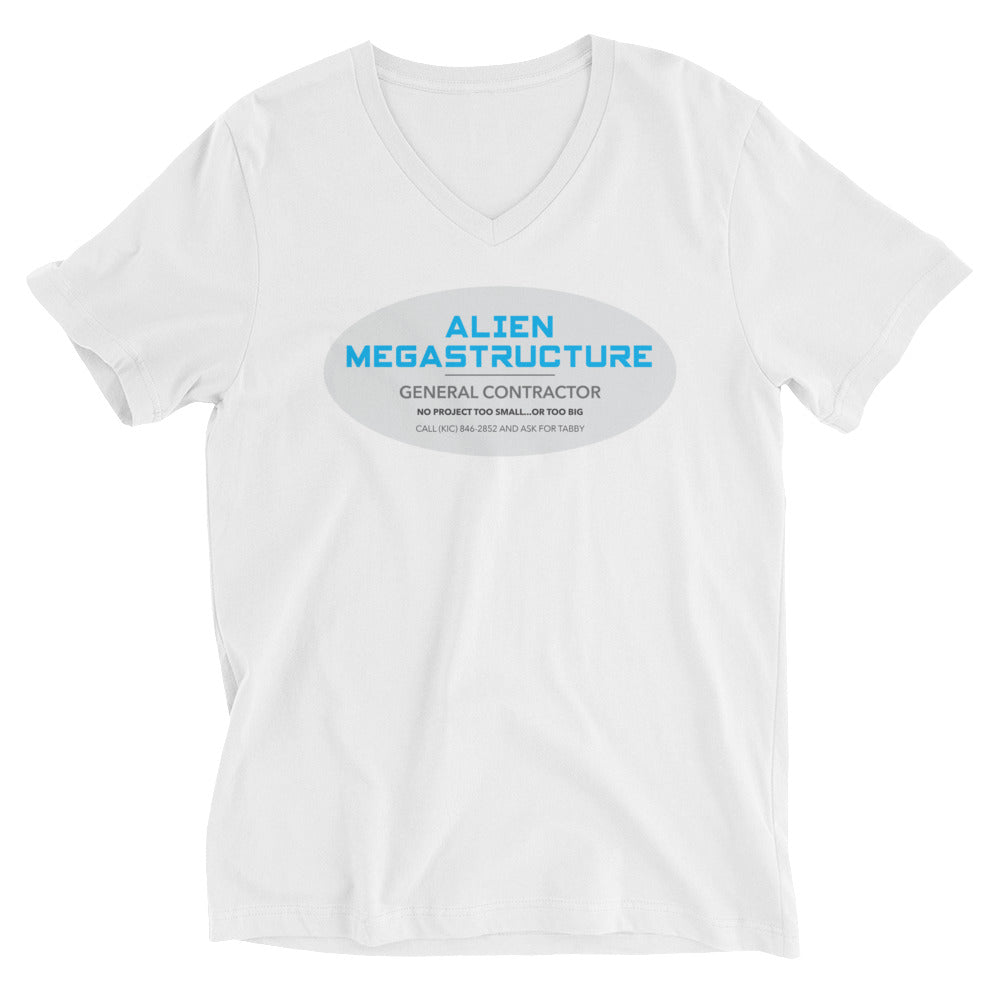 Alien Megastructure General Contractor (No project too small or too big) V-neck