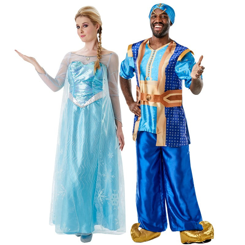 Disney costumes - Shows Elsa and Genie from Aladdin