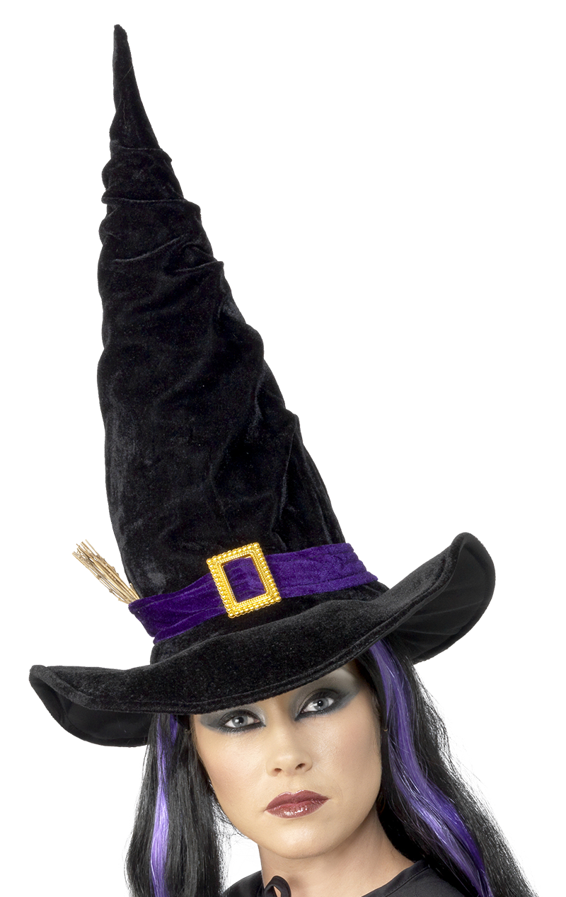 Witch or Wizard Hat With Twig