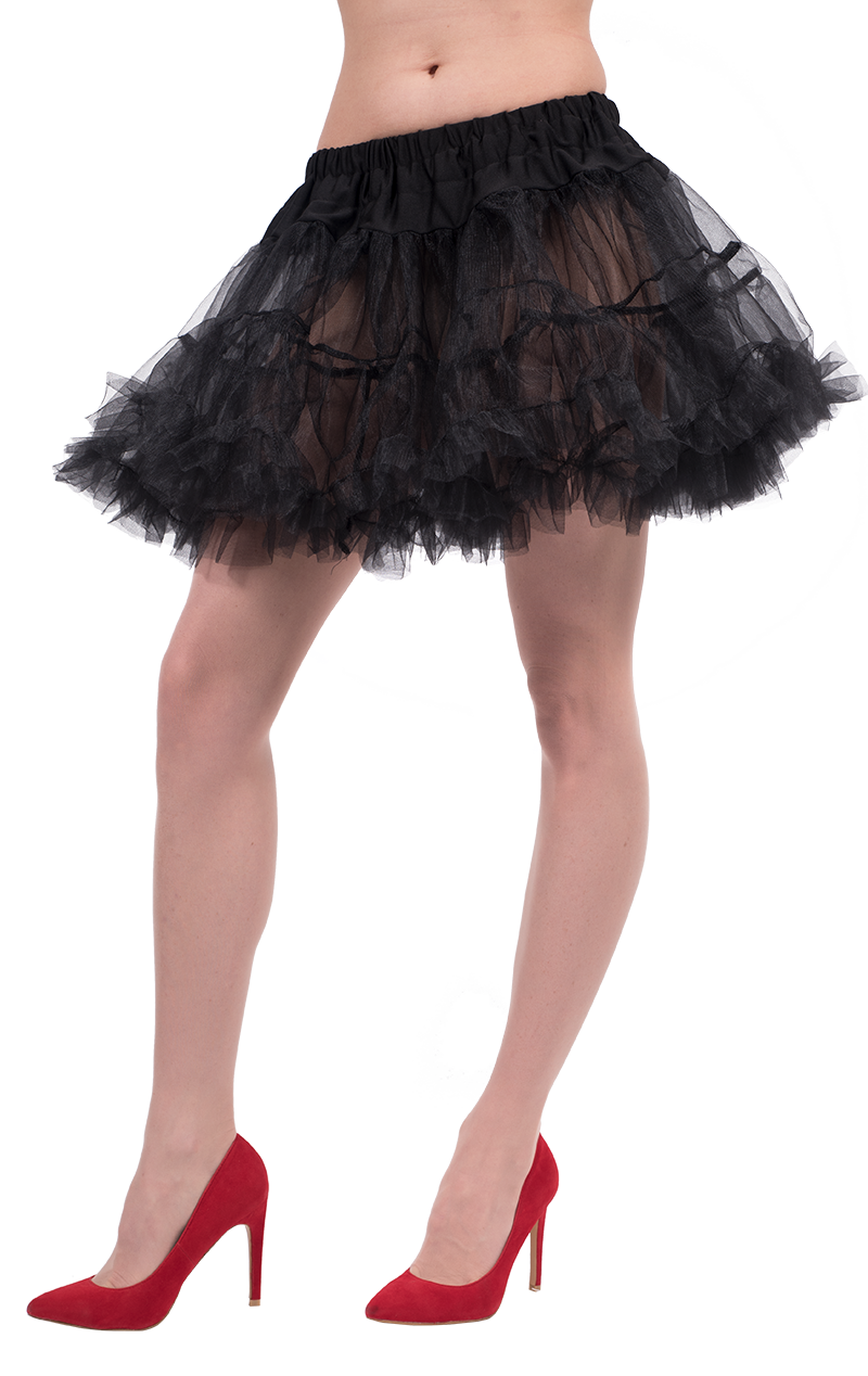 Womens Black Petticoat