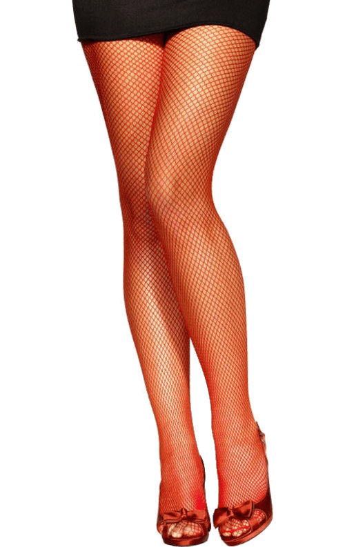 Red Fishnet Tights Accessory