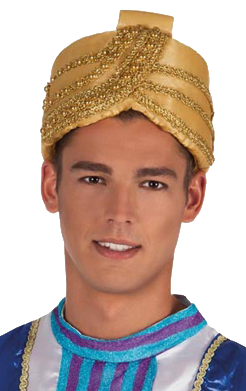 Adults Gold Turban Accessory
