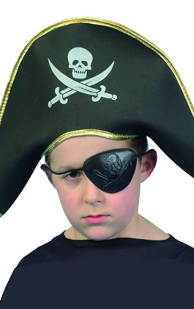 Kids Pirate Captain Hat Accessory