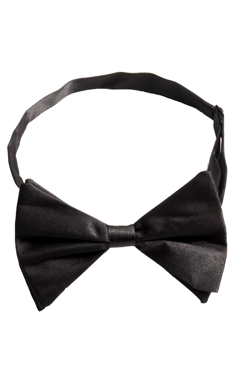 Black Bow Tie Accessory