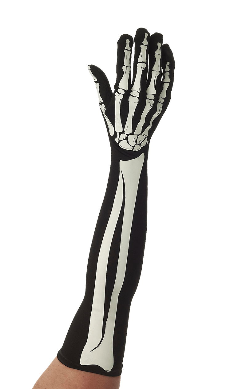 Long Skeleton Gloves