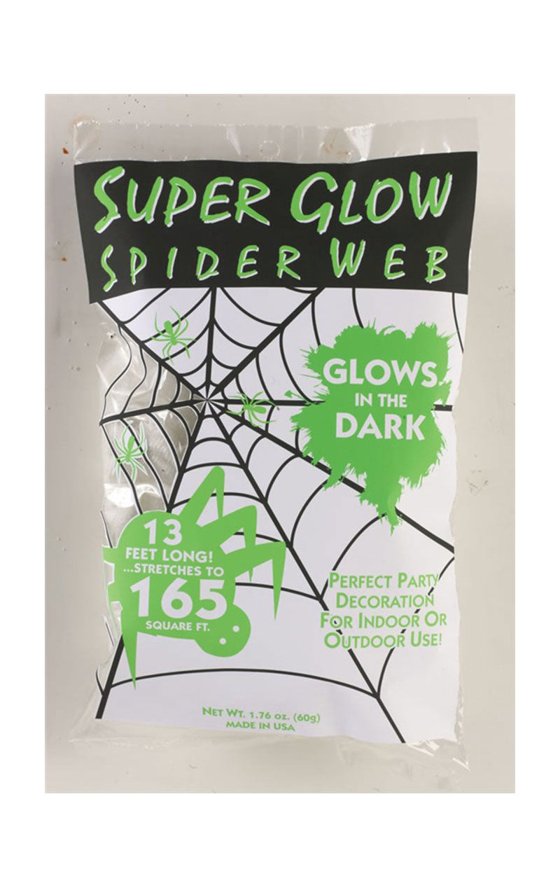 Glow In Dark Cobweb Decoration