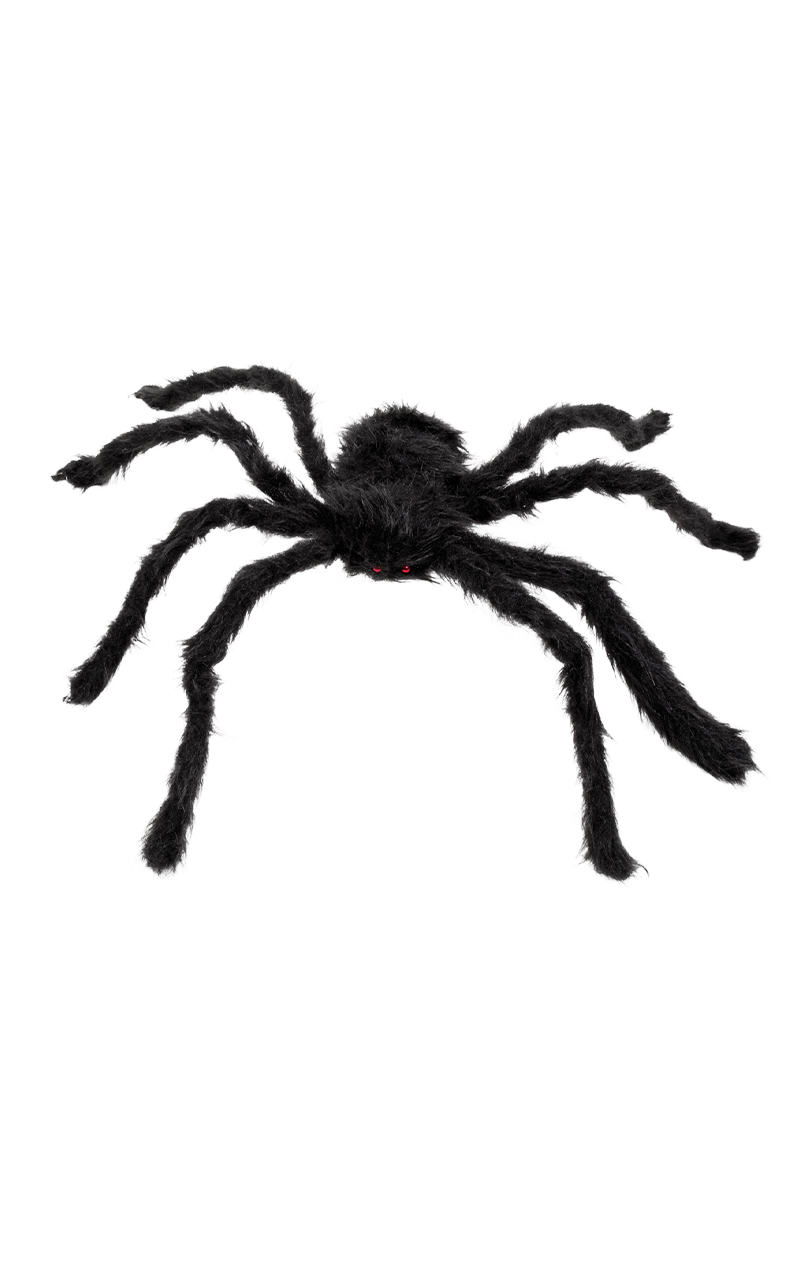 Hairy Spider Black Decoration