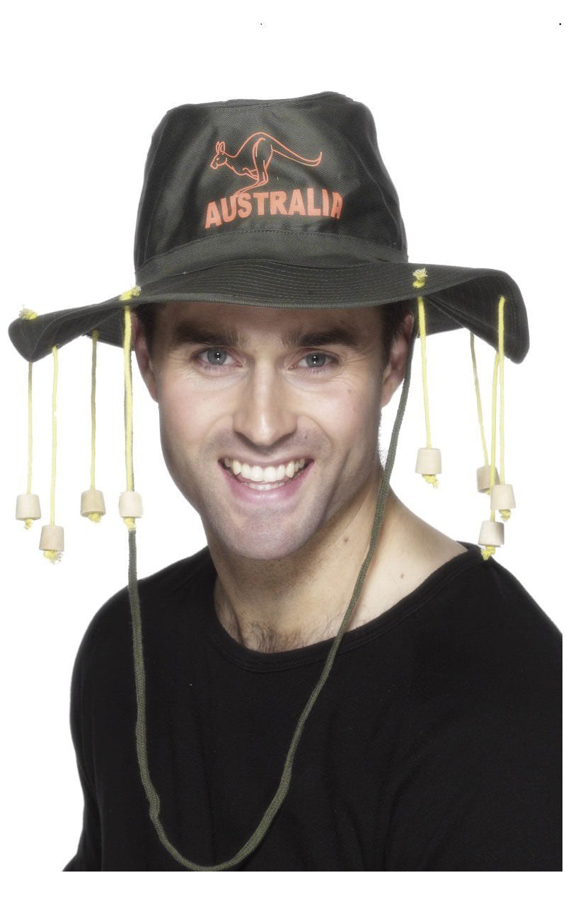 Australian Hat With Corks Accessory