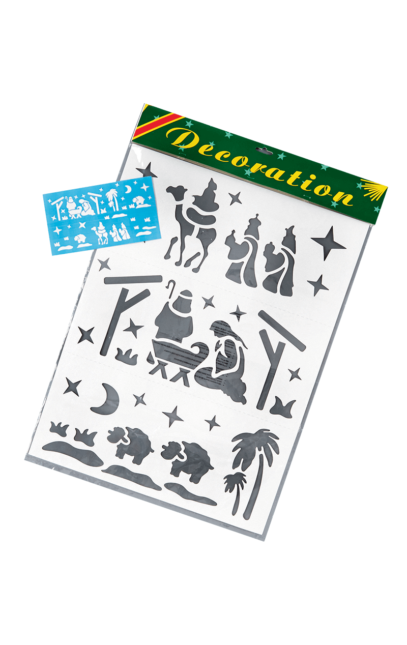 Nativity Christmas Stencil