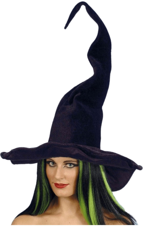 Black Tall & Twisty Witch Hat