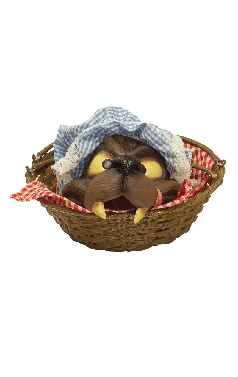 Basket With Wolf Head Accessory