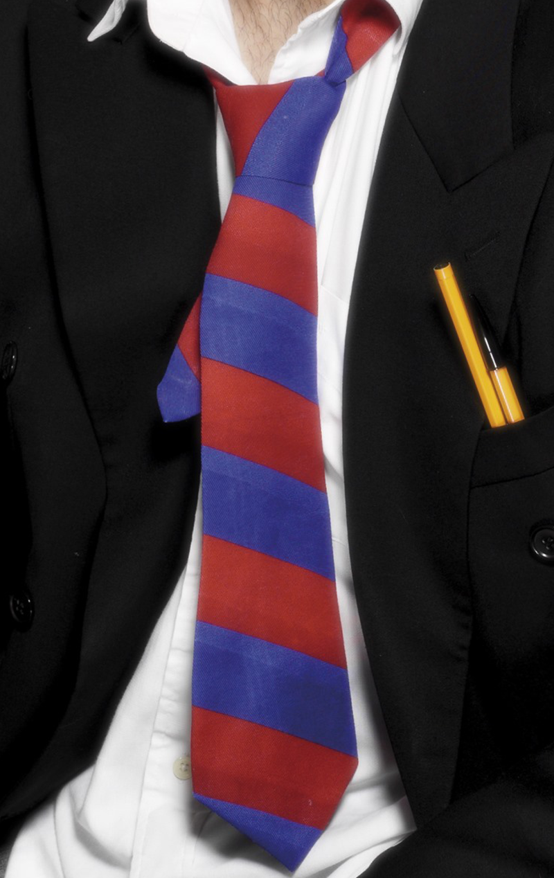 Red and Blue School Tie Accessory