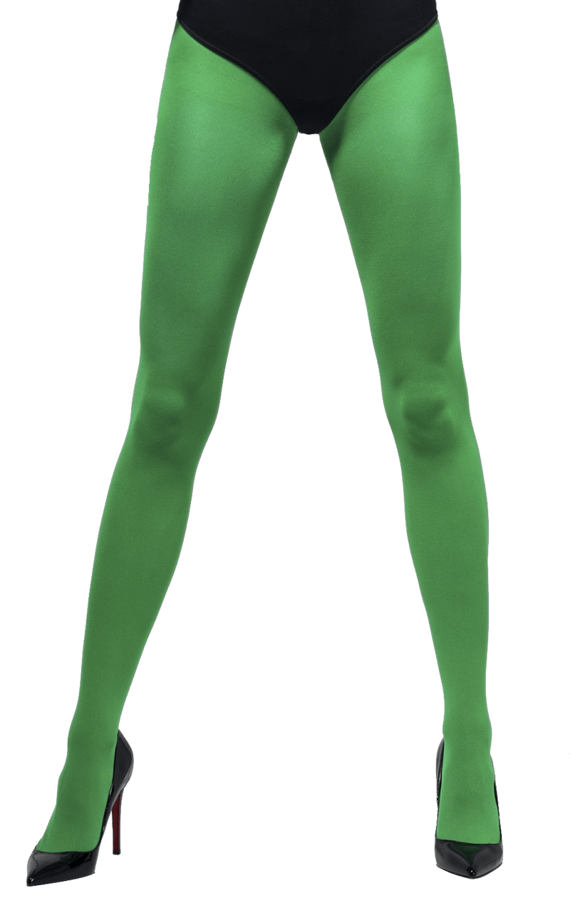 Green Opaque Tights Accessory