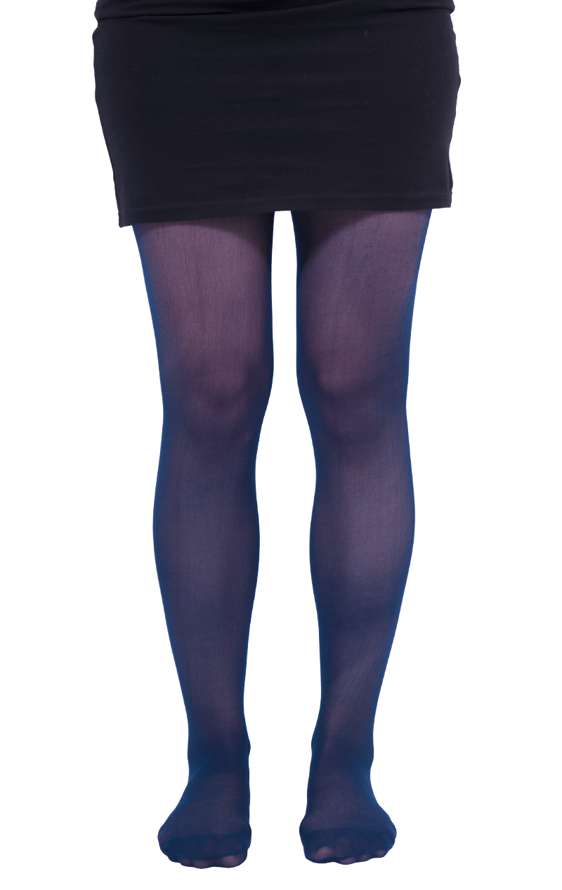 Adult Blue Translucent Tights