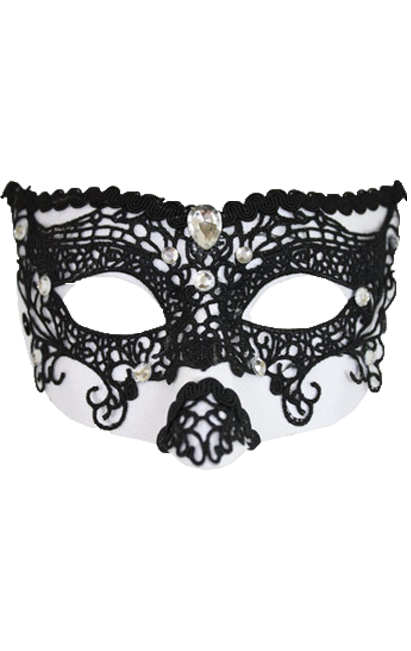 Delma White/Black Facepiece