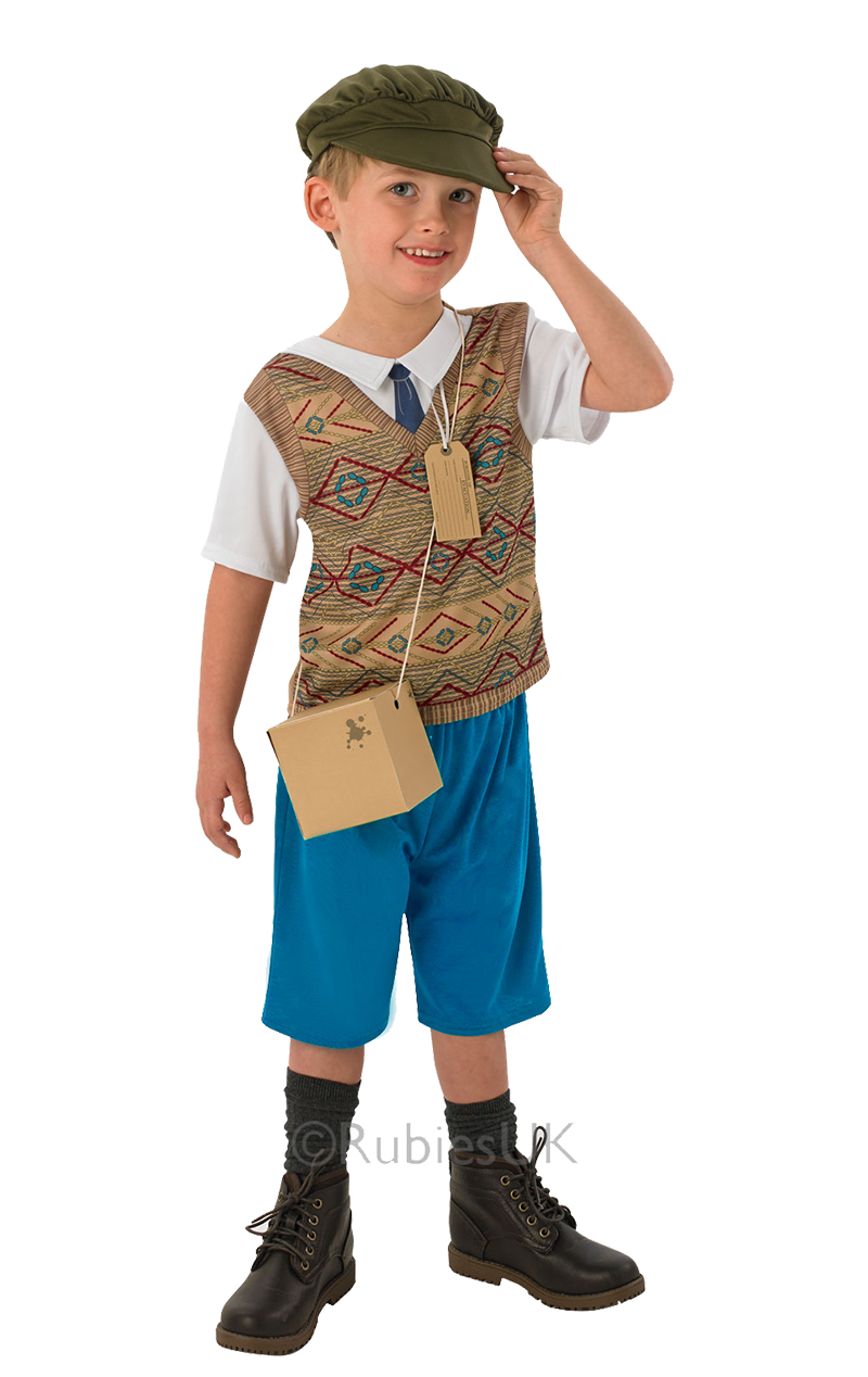 Kids Evacuee Boy Costume