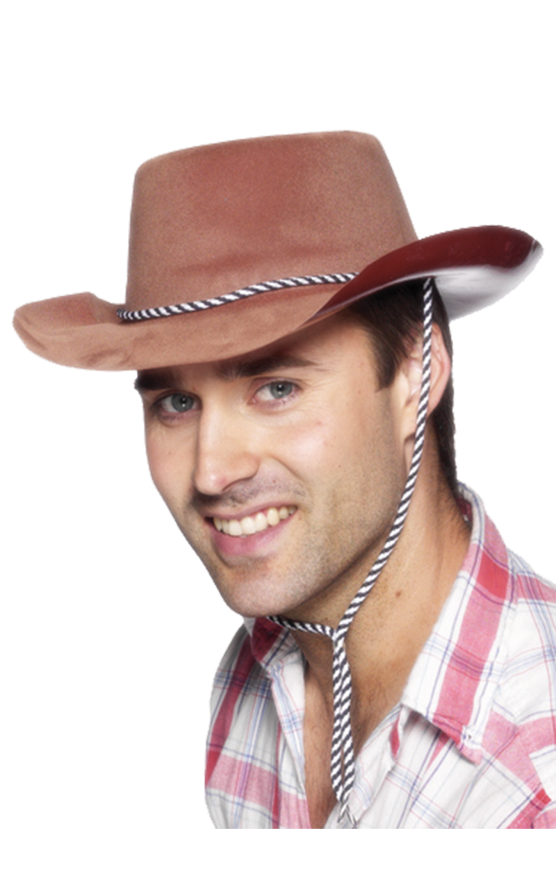 Cowboy Brown Hat Accessory