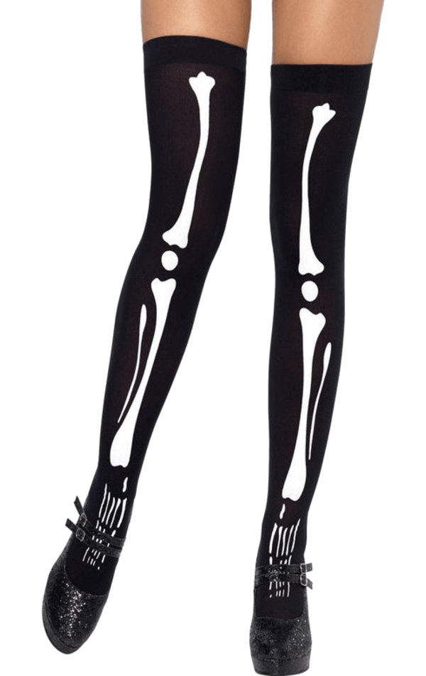 Skeleton Print Stockings
