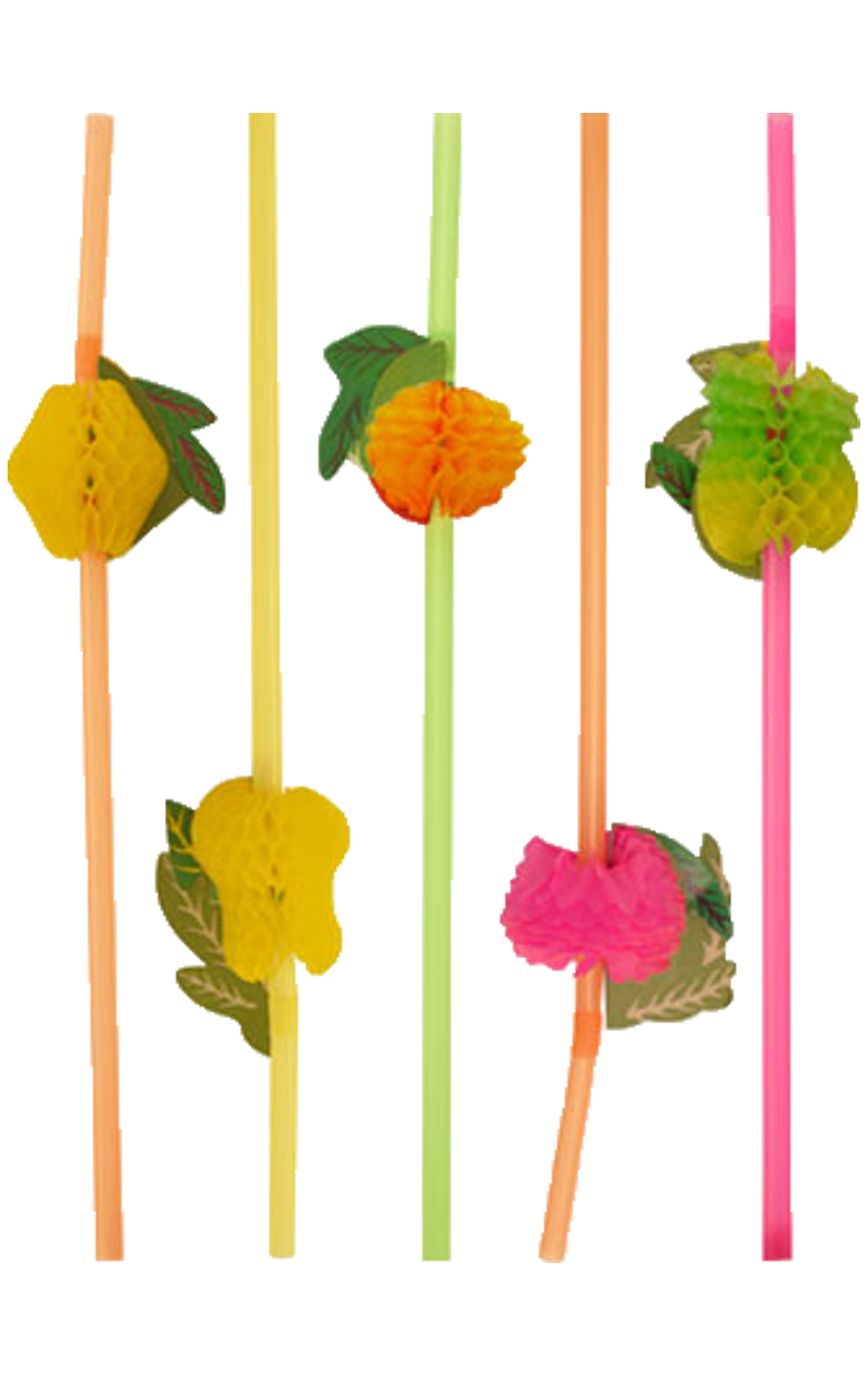 Tropical Fruit Straws