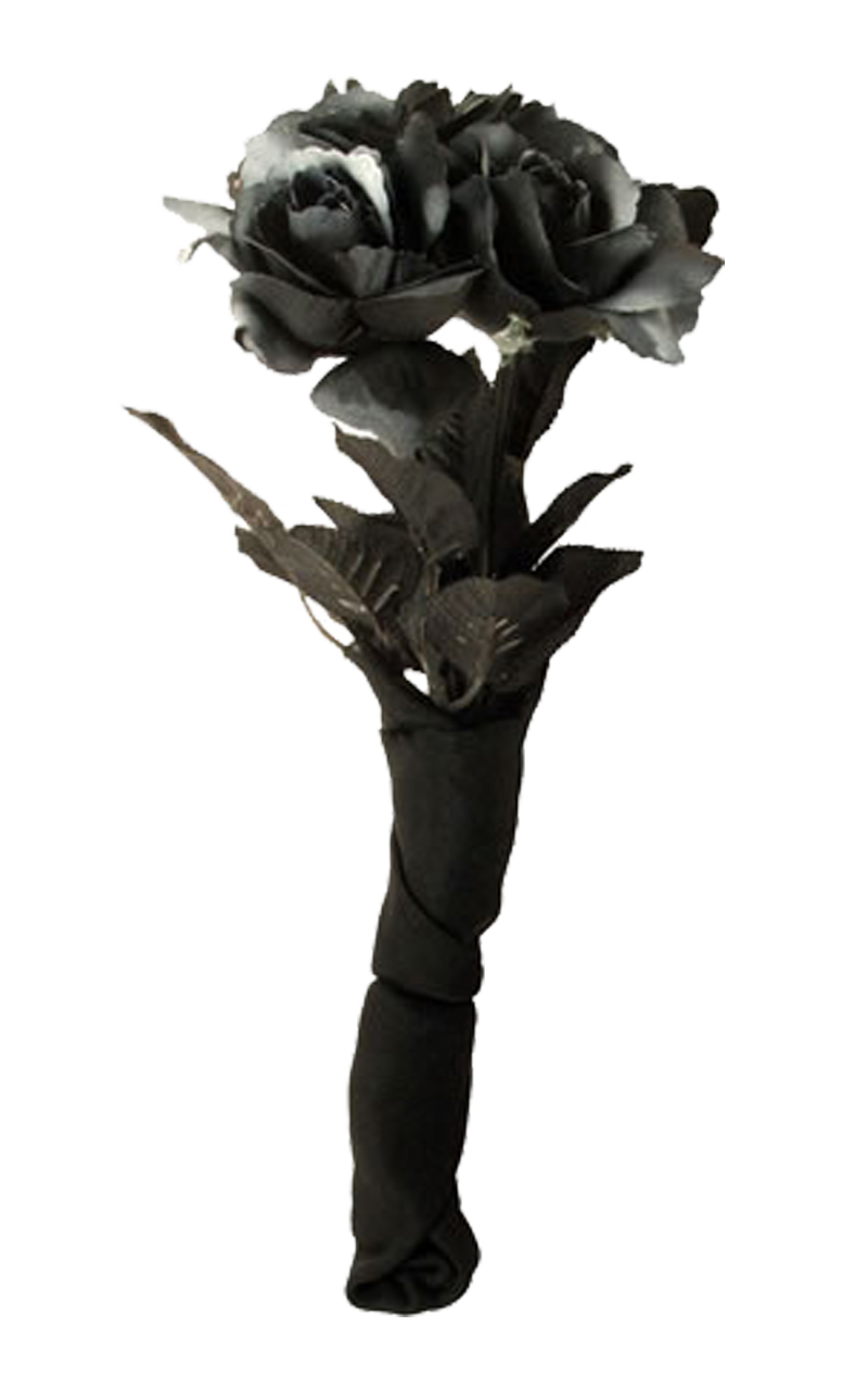 Black Corpse Bride Rose Bouquet