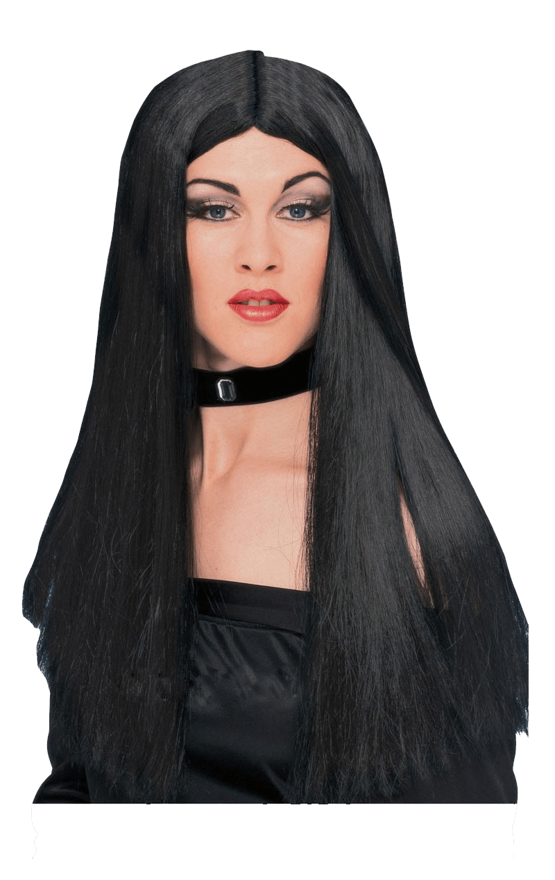 Long Layered Dark Alice Wig Witch Ladies Halloween Fancy Dress Costume Accessory