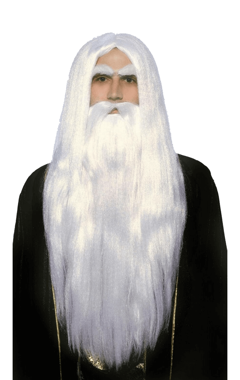 Merlin Wig and Beard Set