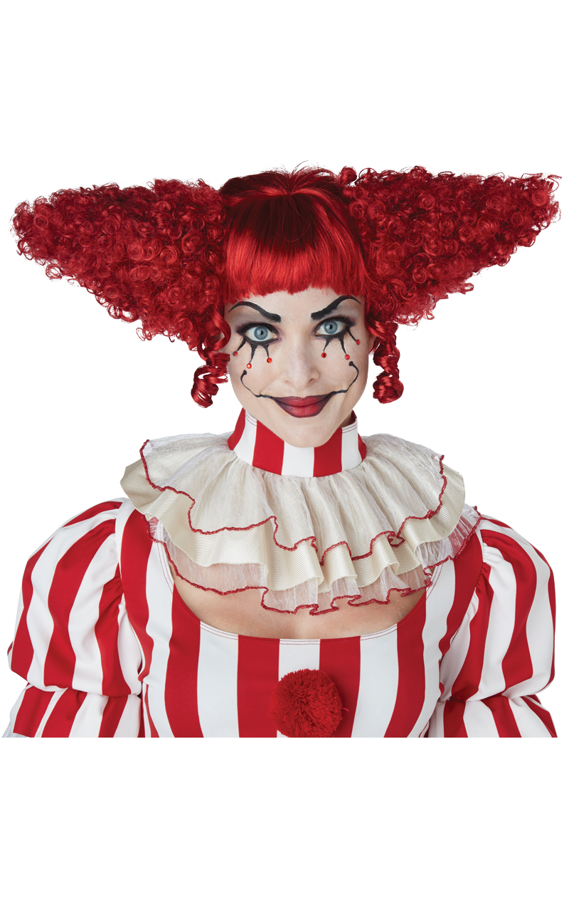 Creepy Clown Dark Red Wig