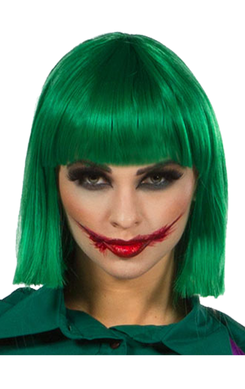 Cindy Emerald Dark Green Wig