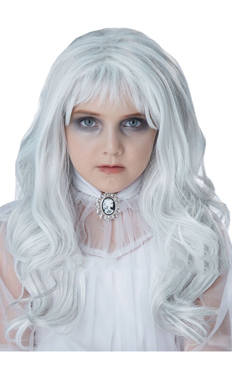 Kids Ghost Halloween Wig