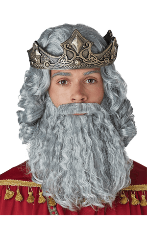 Grey Biblical King Wig and Beard